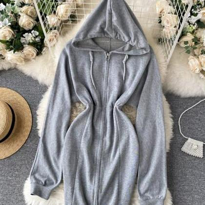 Cute hoodie casual dress