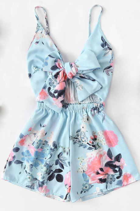 Summer Beach Playsuit Short Romper Female Overalls