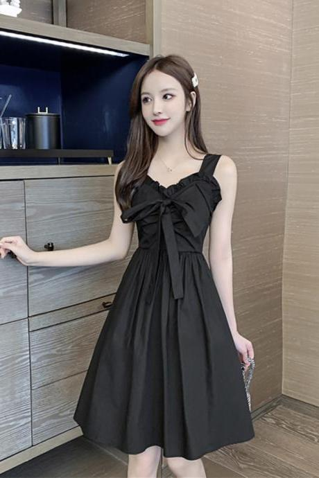 Black sweetheart neck short dress fashion girl dress