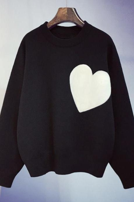 T- shirt long sleeve heart T- shirt