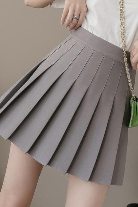 Lovely A line short pleated skirt