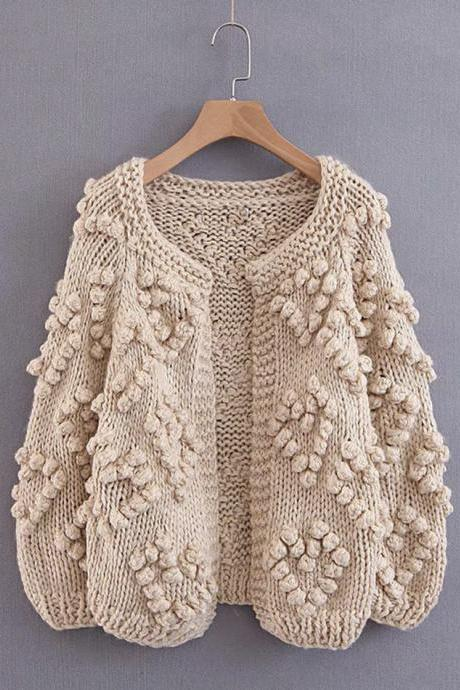 Sweater knitted cardigan jacket