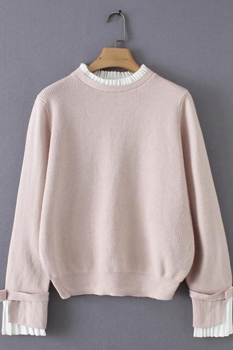 Sweater simple long sleeve sweater