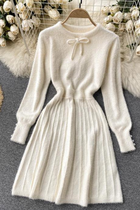 Sweater A line long sleeve sweater dress