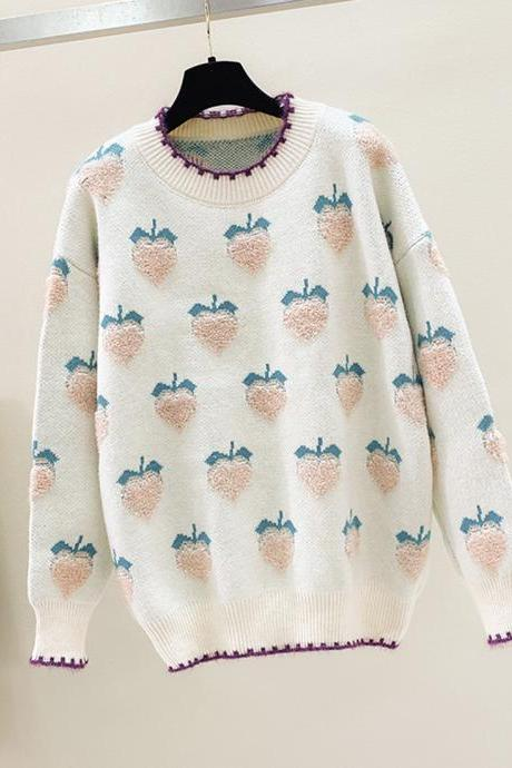 Lovely loose strawberry sweater