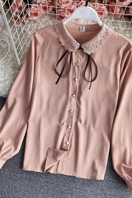 Cute lace long sleeve shirt