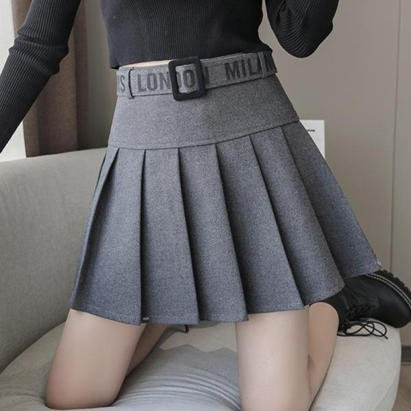 Cute A line pleated skirt