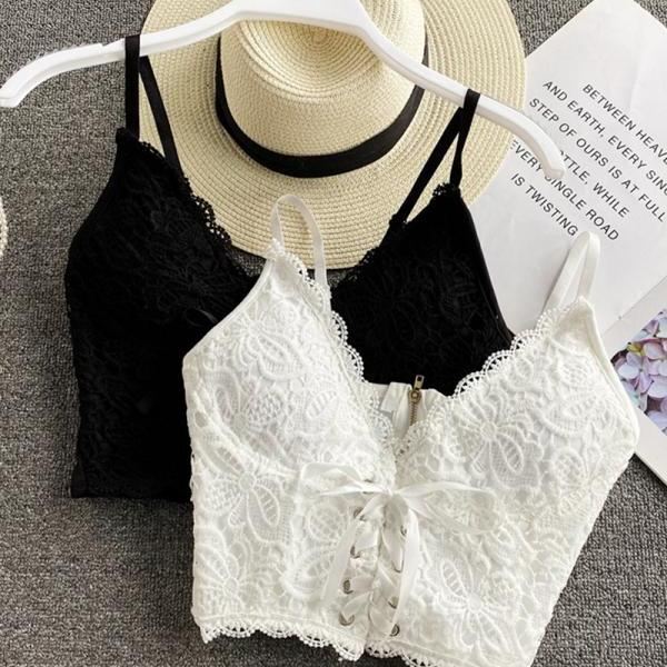 Sexy v neck lace tank tops