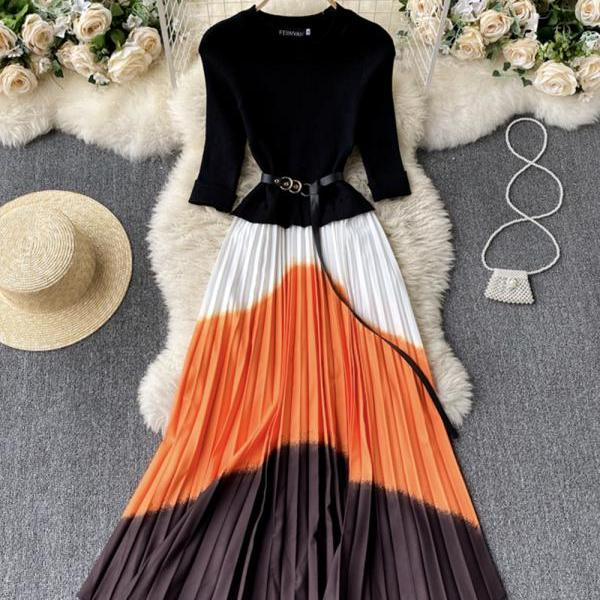 Stylish A line long dress