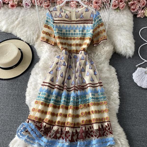 High quality A line short dress